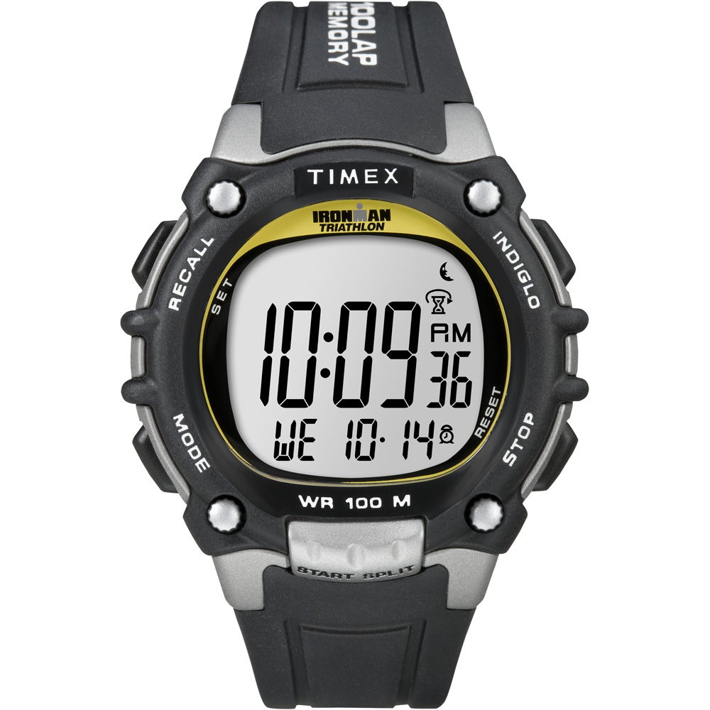 TIMEX IRONMAN $69.95 TRADITIONAL 100m rated – BLACK SILVER YELLOW